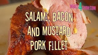 Salami, Bacon & Mustard Pork Fillet. How to cook the most tender and juicy pork fillet!