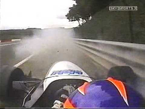 Joshua Southall crashes Formula Palmer Audi at Spa 2005