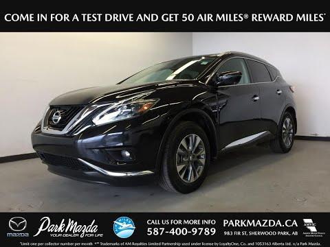 BLACK 2018 Nissan Murano  Review Sherwood Park Alberta - Park Mazda