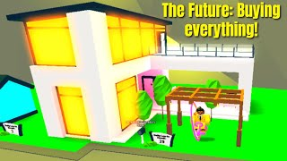 ROBLOX ADOPT ME THE FUTURE UPDATE BUYING EVERYTHING (HOUSE, FURNITURE, DONUT CYCLE) (USED 30K BUCKS)