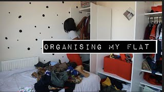 ORGANISED MY FLAT WITH ME, COOK AND CLEAN WITH ME