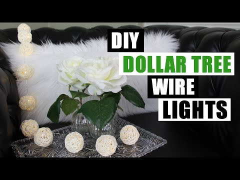 DIY DOLLAR TREE WIRE LIGHTS Dollar Store DIY Wire Decor Lights DIY Battery Wire Lights Tutorial