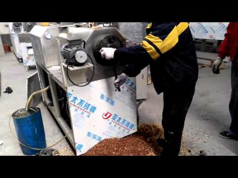 Cleaning Screws After Finishing Produce Pet Food From Twin Screw Extruder