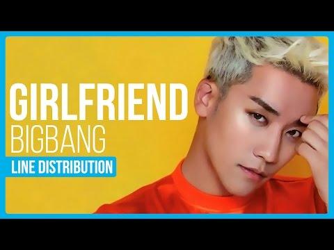 BIGBANG - GIRLFRIEND Line Distribution (Color Coded)