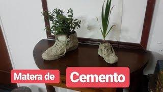 COMO HACER MACETAS  DE CEMENTO FÁCIL Y RÁPIDO