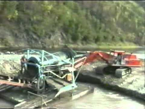 Floater Dredging for Placer Gold on the Fortymile River, Yukon