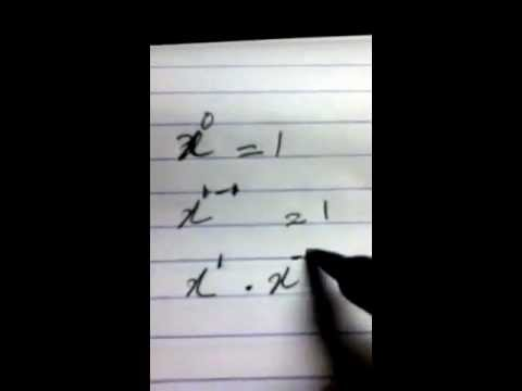 Prove x to the power of 0 is equal to 1