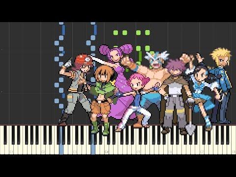 Battle! (Gym Leader) - Pokémon DPPt (Piano sheet music/MIDI) (Synthesia)