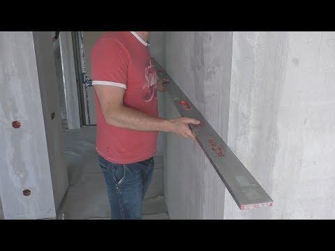 Качественная установка малярного уголка в один уровень со стеной!