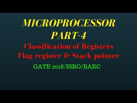 Classification of Register, Flag register in MICROPROCESSOR part-4 for gate and psu