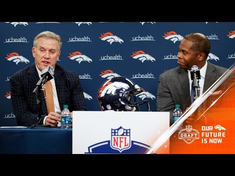 Pres. of Football Ops/GM John Elway and Coach Joseph wrap up the 2018 NFL Draft