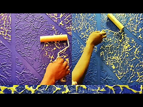 Wall putty texture Panch design painting ideas