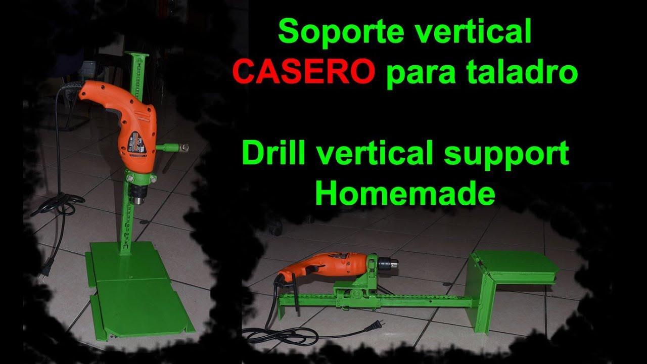Taladro de banco casero soporte vertical para taladro - Soportes para taladro ...
