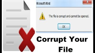 How to purposely coŗrupt a file in windows (Best Trick)