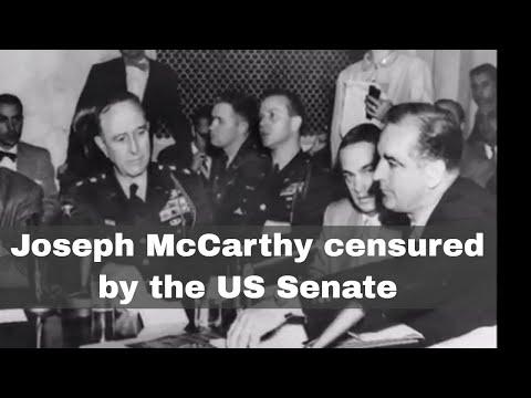 2nd December 1954: US Senator Joseph McCarthy censured by the Senate