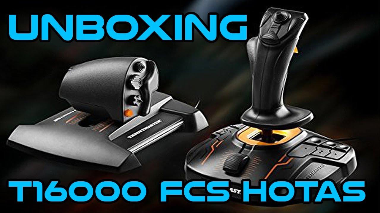 Thrustmaster T 16000m FCS HOTAS Unboxing - Twerk17gaming