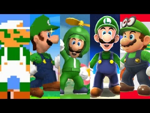 Download Youtube: Evolution of Luigi in Super Mario Games