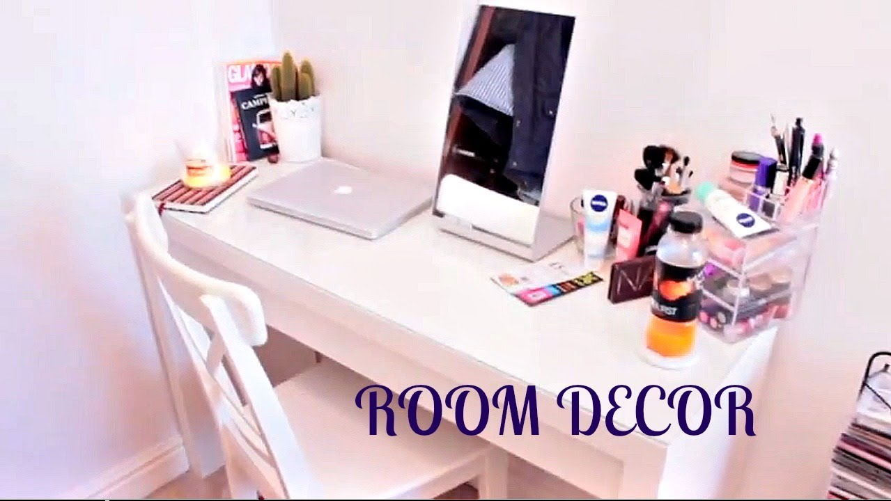 Room Decor: Dressing Table & Makeup Storage! - YouTube