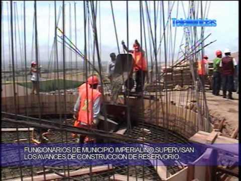 Telenoticias45 construccion de reservorio en cerro for Construccion de estanques circulares para tilapia