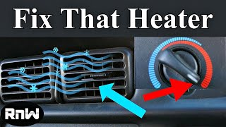It Will Probably Cost Very Little to Fix Your Car's Heater