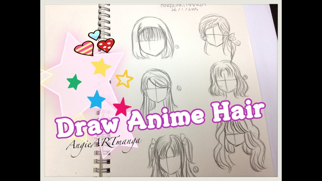 draw manga hair six