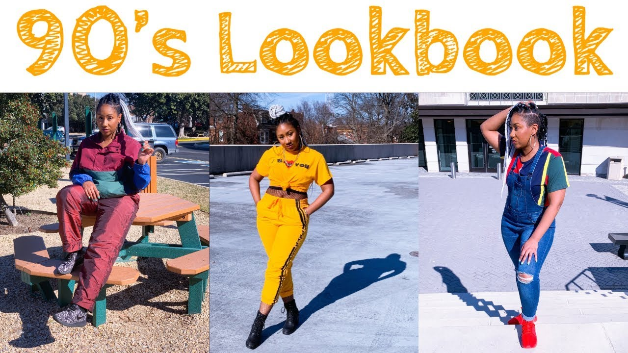 [VIDEO] - 90's Outfit Ideas Lookbook 2019   mom jeans, overalls, joggers, windbreakers, etc 5