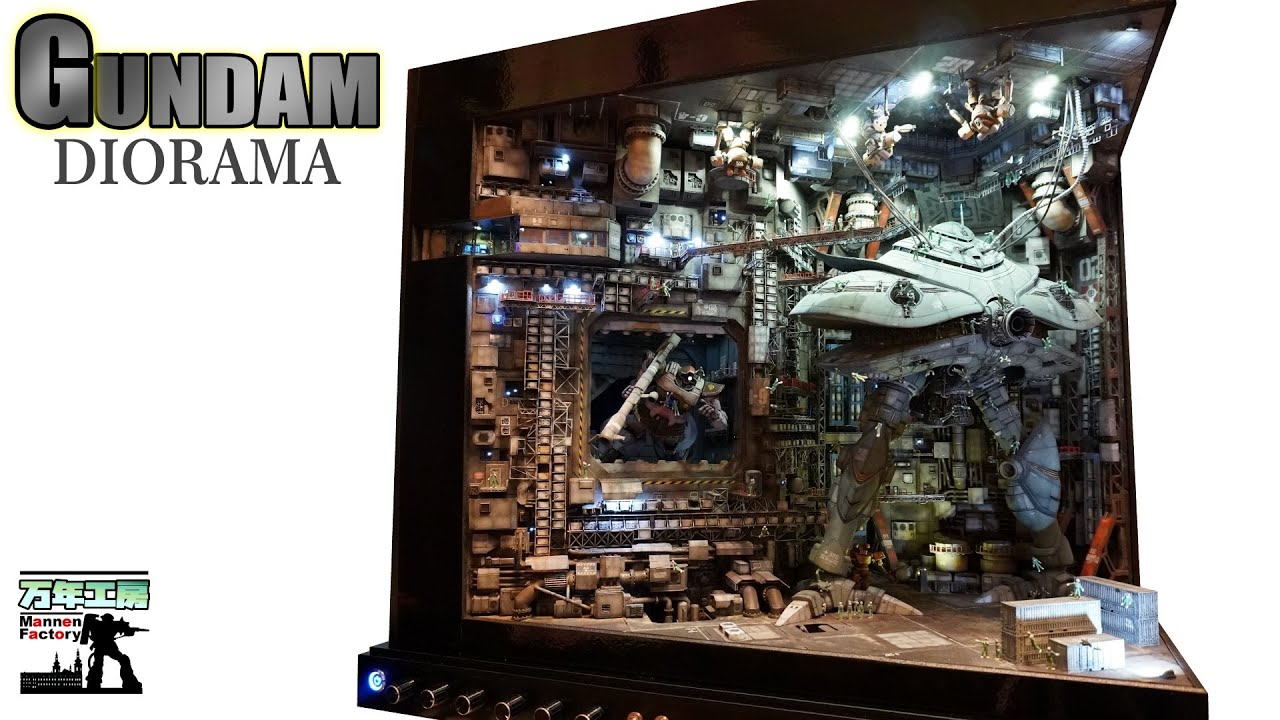 Spent the Past 4 Years Crafting!!?? Gundam Diorama ManNen Factory
