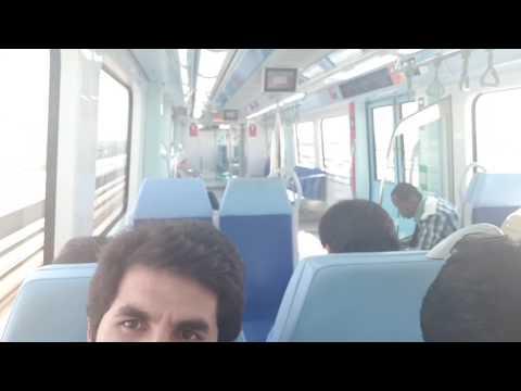 Dubai metro we are going to Danube metro station