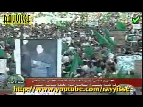 Pro Gaddafi Rally (Green Libya) - 13c - Zliten, 15-07-2011 (Speech)