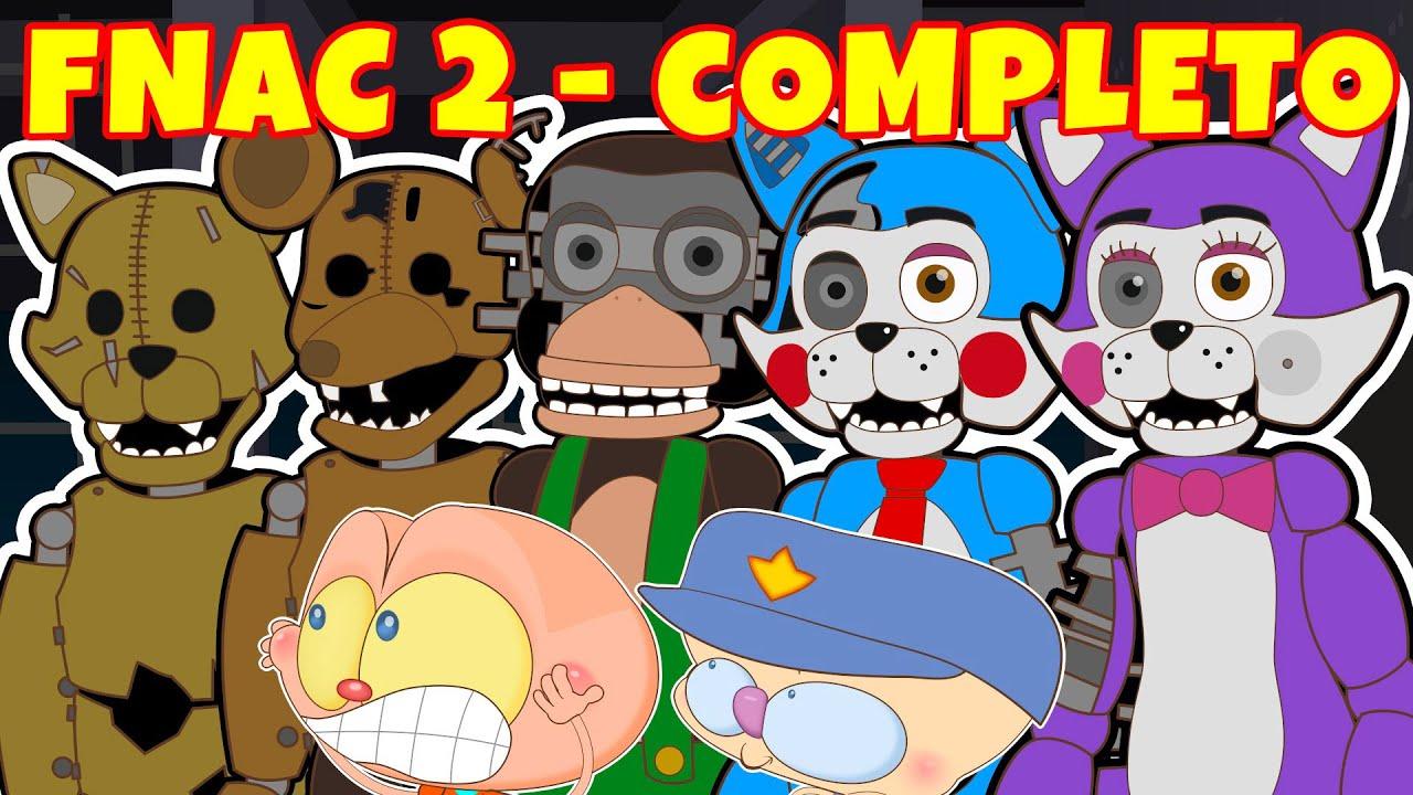 Mongo e Drongo em FNAC 2 COMPLETO - Five Nights at Candy's 2   Todas as 6 Noites - Desenho animado