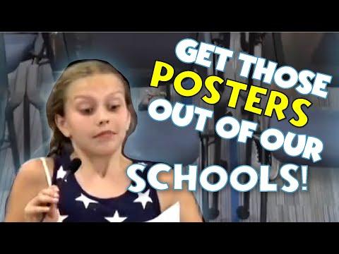 """反对学校贴""""黑命贵""""海报 9岁白人女孩在网络爆红"""