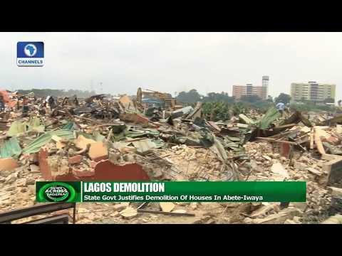 Lagos State Govt. Justifies Demolition Of Houses In Abete-Iwaya