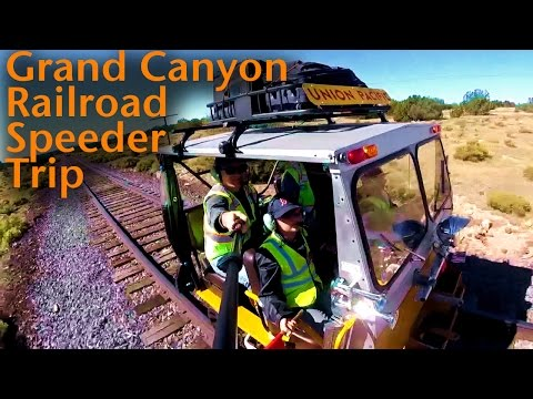 Take a trip to the Grand Canyon on a Rail Speeder! (What's a SPEEDER?!)