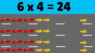 La Multiplication Des Tables De 4 : Compter Les Voitures