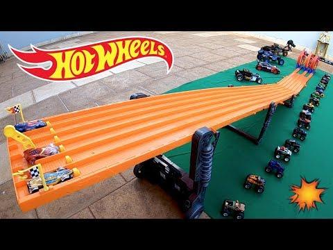 Hot Wheels Corrida 3 Pistas 3 Loopings - Carrinhos de Brinquedos #64