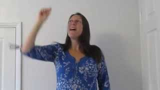 I see the moon and the moon sees me - British Sign Language (BSL) and singing