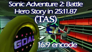 [HD 16:9] Sonic Adventure 2: Battle (TAS) - Hero Story in 25:11.87