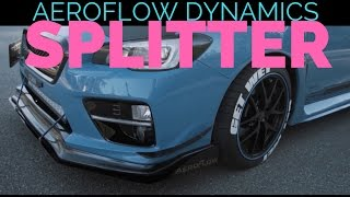 AEROFLOW DYNAMICS V2 Front Splitter | 2016 Subaru WRX STI Hyper Blue