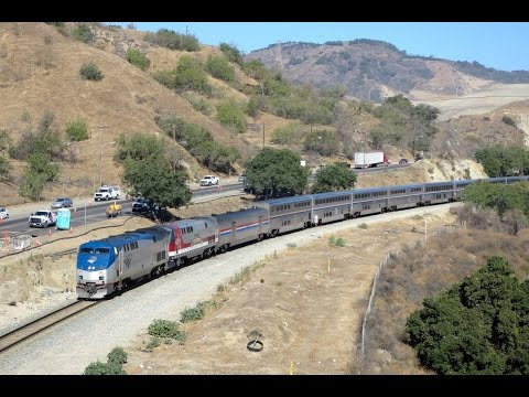 Amtrak SW Chief Detour on Metrolink Valley Sub (4K)