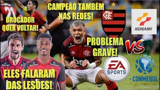 CONMEBOL GERA PROBLEMA COM A KONAMI! R. Caio e B. Henrique falam das lesões! Atacante quer voltar?