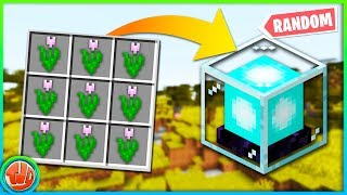 Minecraft Survival Alleen CRAFTING Is RANDOM!! #1