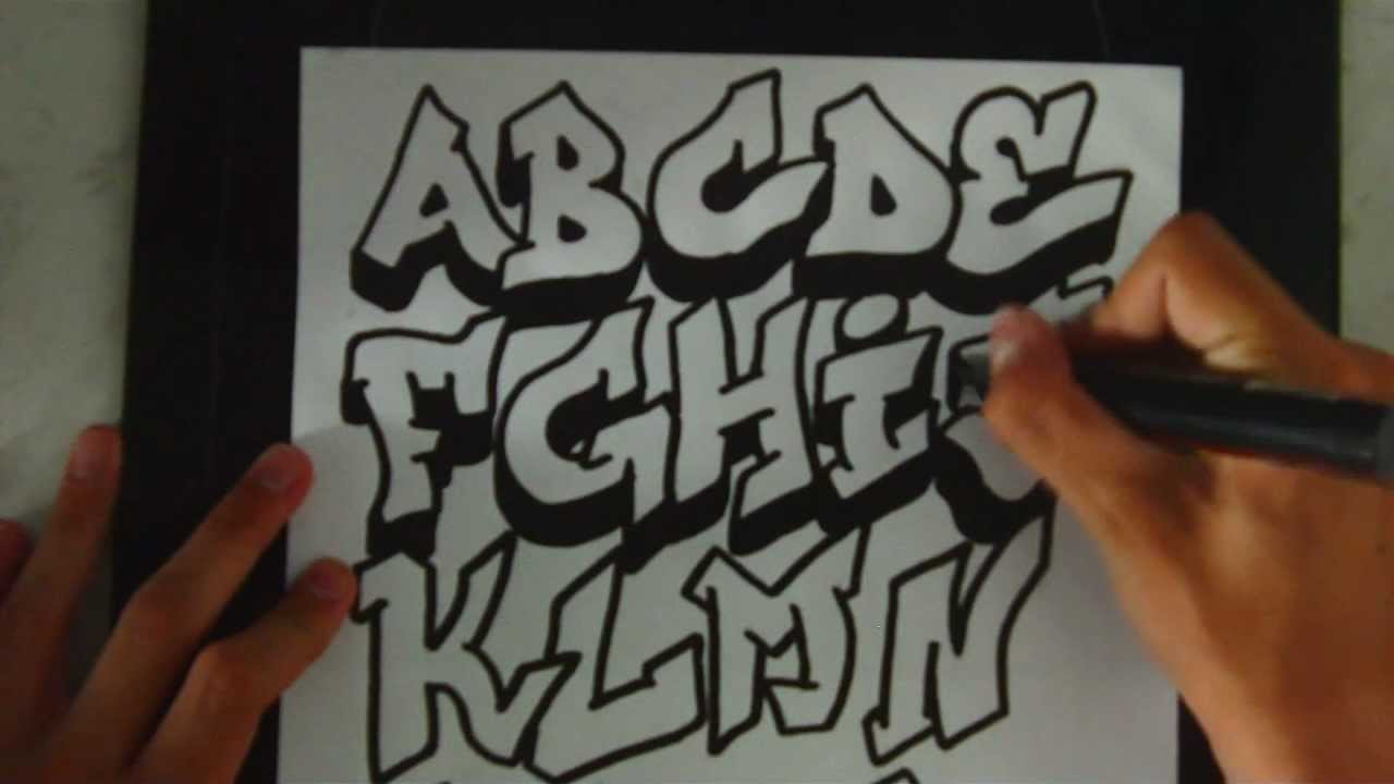 Alphabet Tag Facile speed art | graffiti alphabet 1tom-2d - youtube