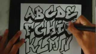Speed Art | Graffiti Alphabet 1 by ToM-2D
