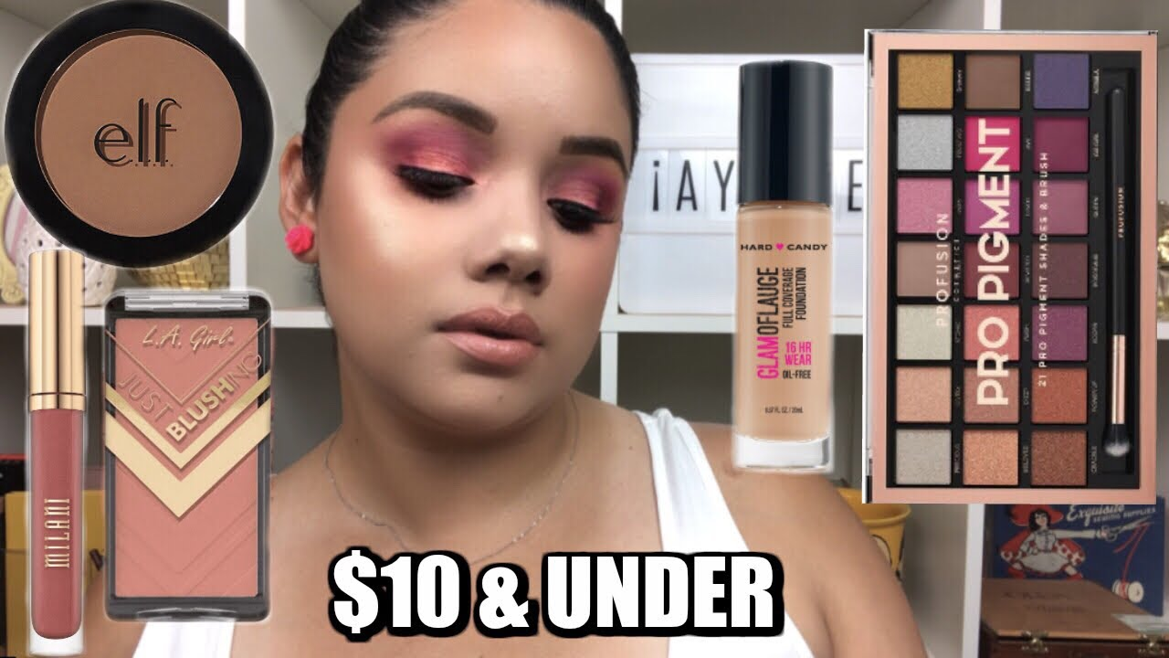 FULL FACE NOTHING OVER $10: AFFORDABLE MAKEUP TUTORIAL