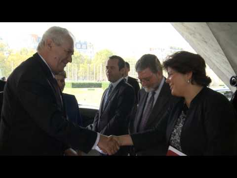 Visit of H.E Mr Milos Zeman, President of the Czech Republic
