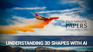 shape2vec understanding 3d shapes with ai   two minute papers