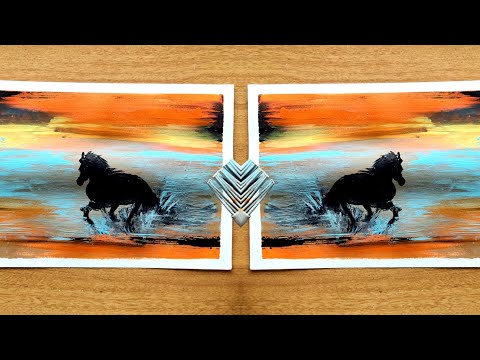 Running horse | Acrylic painting tutorial for beginners | landscape painting art | Art is life