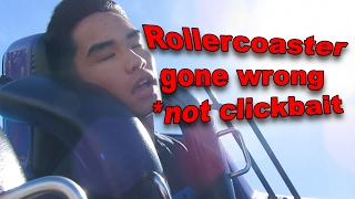 rollercoaster ride gone horribly wrong near death experience caught on tape