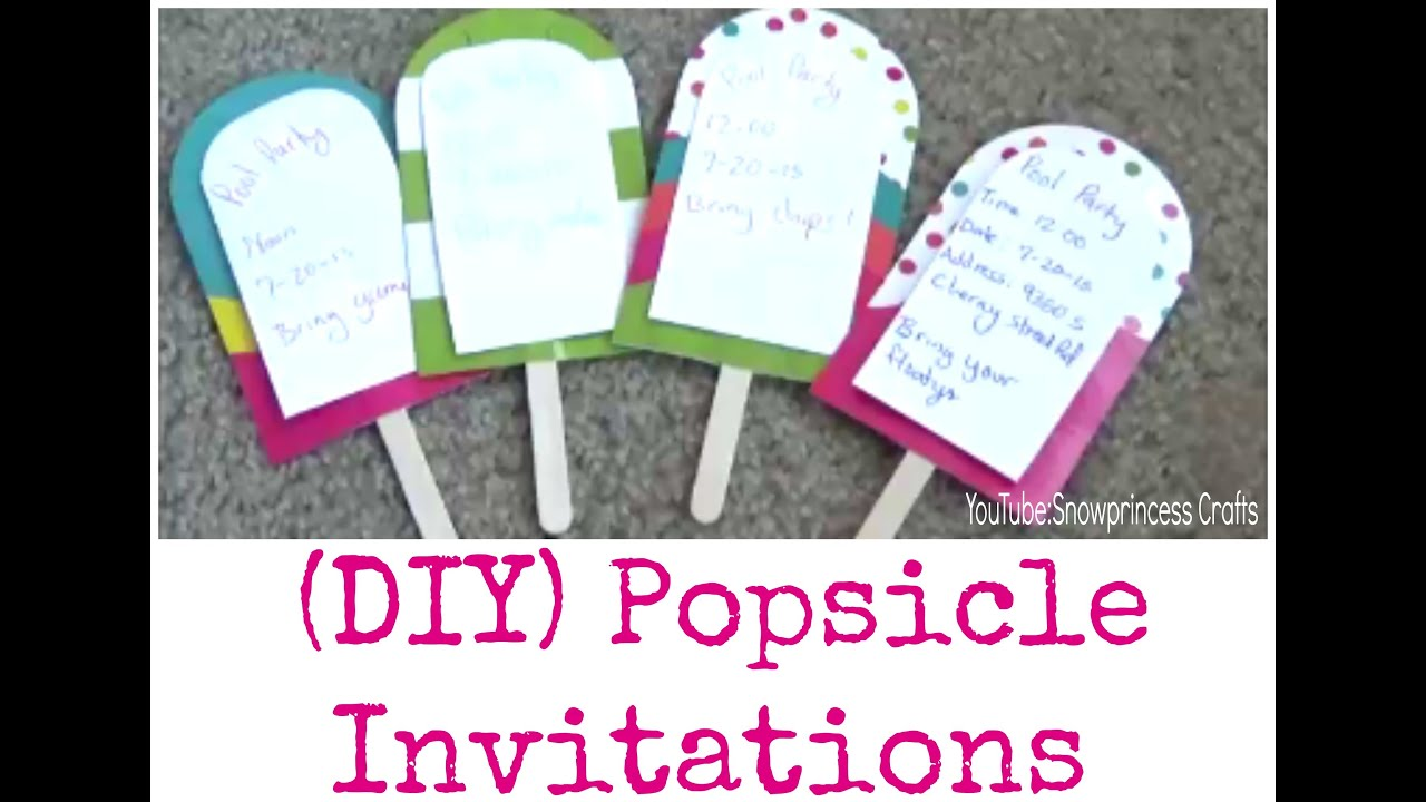 Diy popsicle invitations youtube diy popsicle invitations solutioingenieria Images
