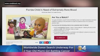 Florida Girl At Center Of Worldwide Hunt For Rare Blood To Help Fight Cancer